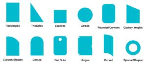available smart film piece shape