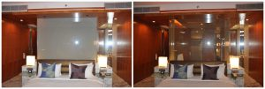 switchable glass for hotel partition