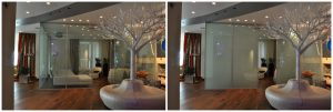 electric privacy glass for glass partition
