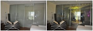 switchable privacy film and glass