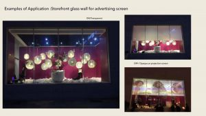 switchable privacy glass works as rear projection screen
