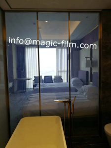 switchable glass for luxury hotel