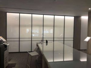 smart glass for office decoration off