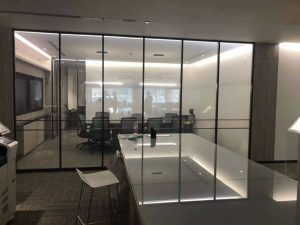 smart glass for office decoration on