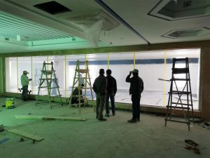switchable glass partition on state