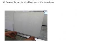 use non-conductive frame to hide the wire