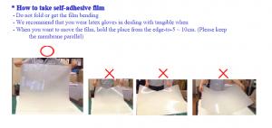 Warnings of smart film installation