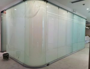 curved switchable glass